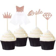 4 piezas decoracion de pastel de boda