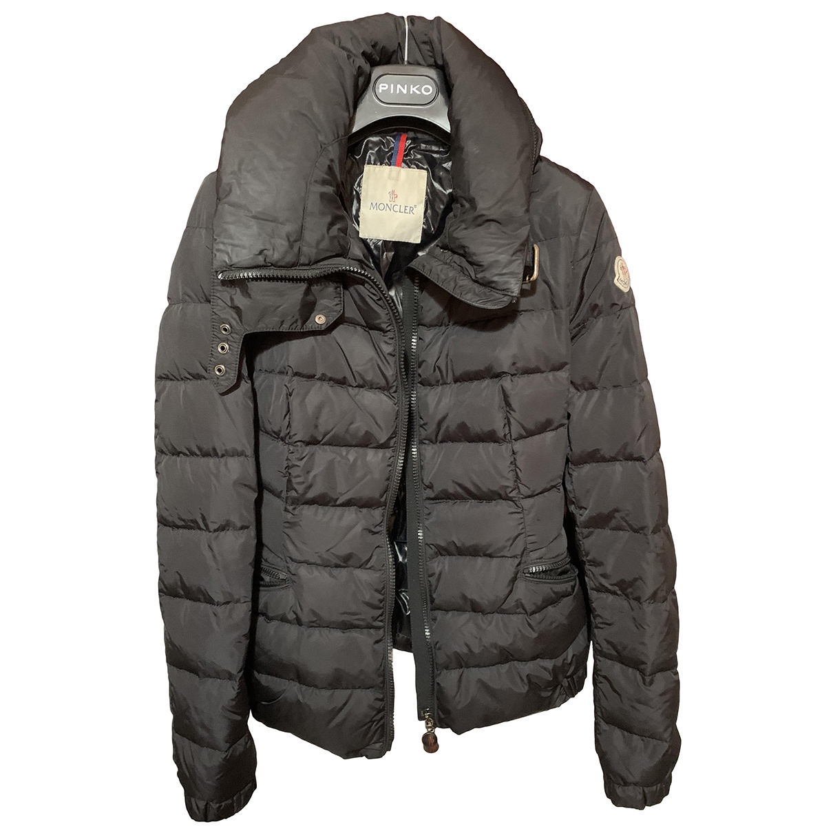 Moncler Classic Maentel in  Schwarz Polyester
