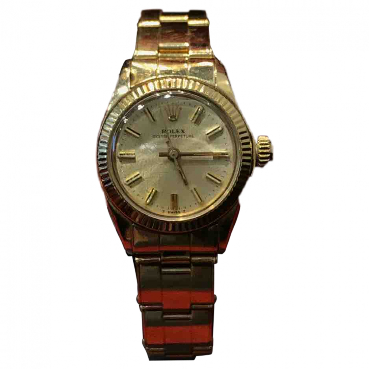 Rolex Lady Oyster Perpetual 26mm Uhr in  Gelb Gelbgold