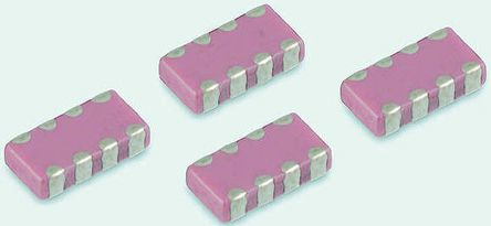 Yageo Capacitor Array 100pF 50V dc ±5% 4-way C0G Dielectric 0508 (1220M) Package C-Array Series Surface Mount (4000)