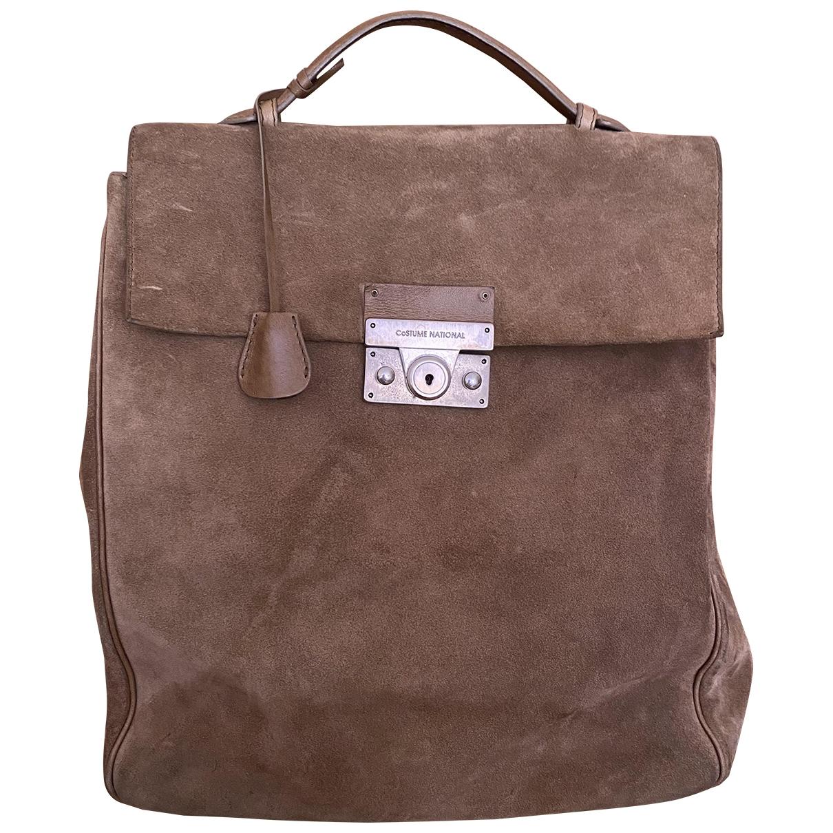 Costume National \N Beige Suede handbag for Women \N