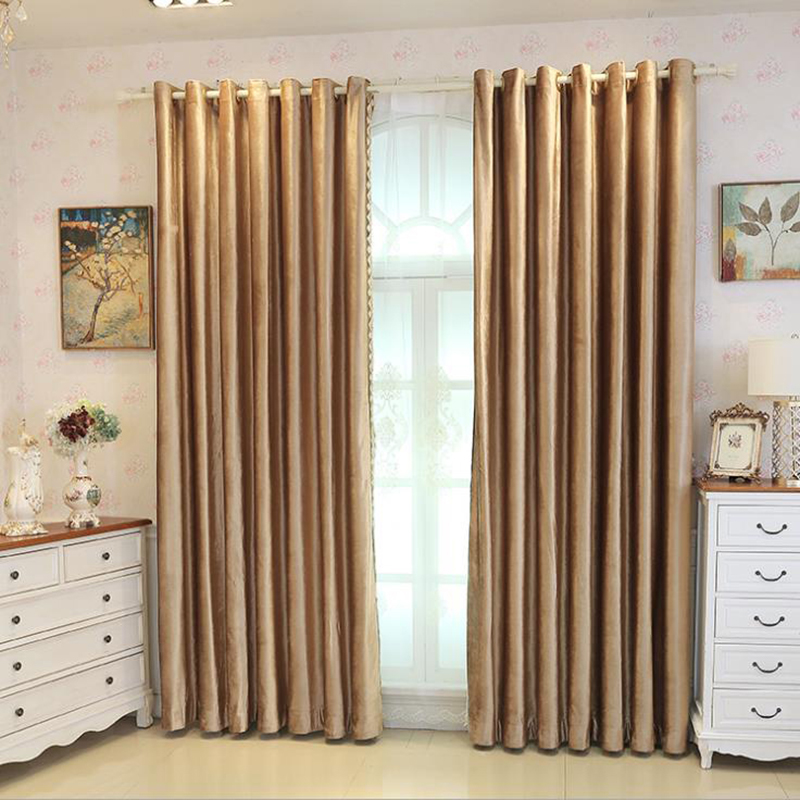 Decorative Edge Flocking Suede Curtain Matching Different Other Drapes