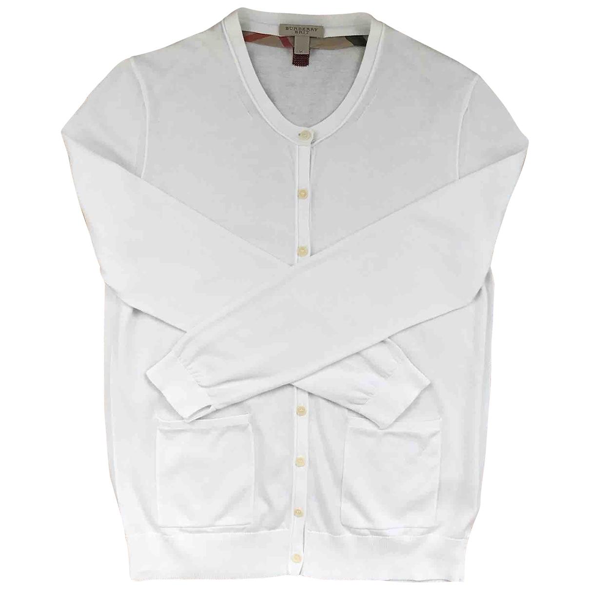 Burberry - Pull   pour femme en coton - blanc