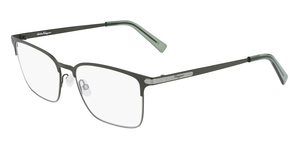 Salvatore Ferragamo SF2207 331 Men's Glasses Green Size 54 - Free Lenses - HSA/FSA Insurance - Blue Light Block Available