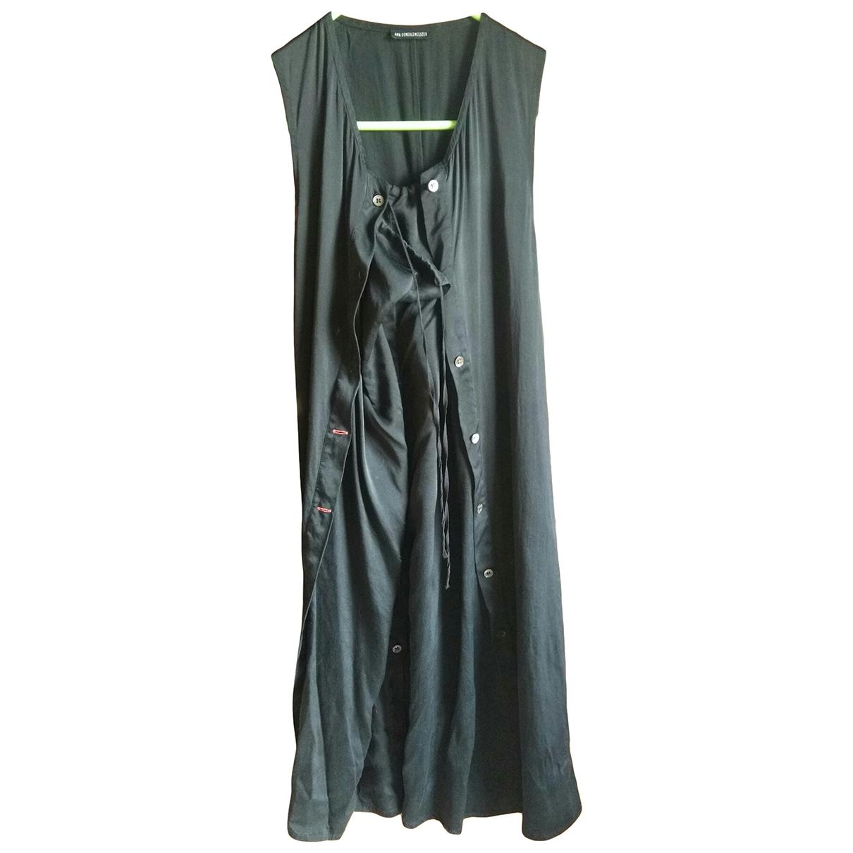 Ann Demeulemeester \N Kleid in  Schwarz Seide