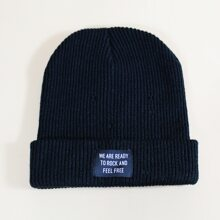 Guys Letter Patched Beanie