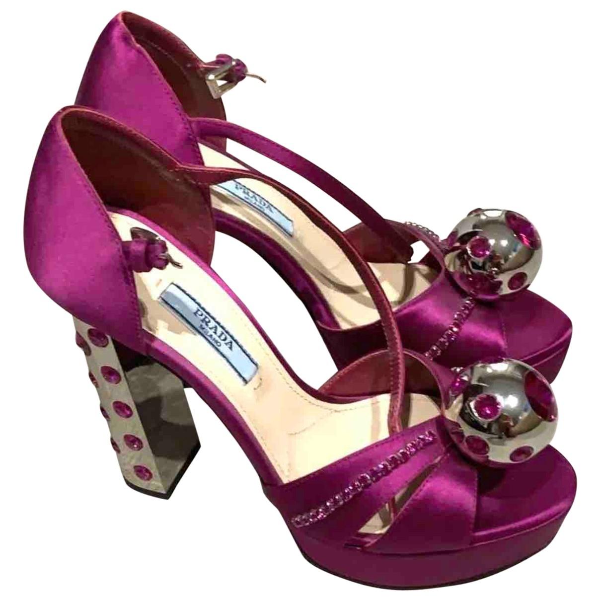 Prada \N Pink Cloth Sandals for Women 36 EU