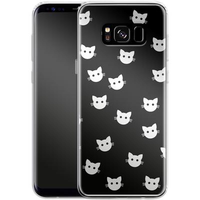 Samsung Galaxy S8 Silikon Handyhuelle - Cat Pattern von caseable Designs