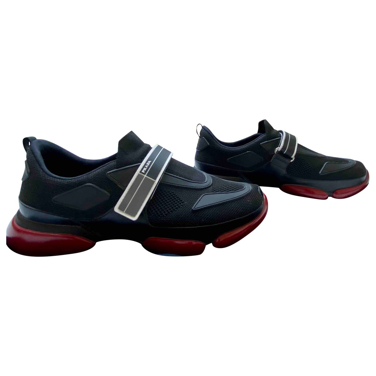 Prada Cloudbust Sneakers in  Schwarz Leder