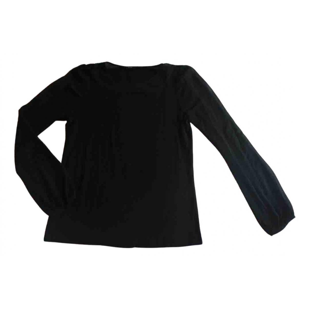 Maje - Top   pour femme en laine - noir