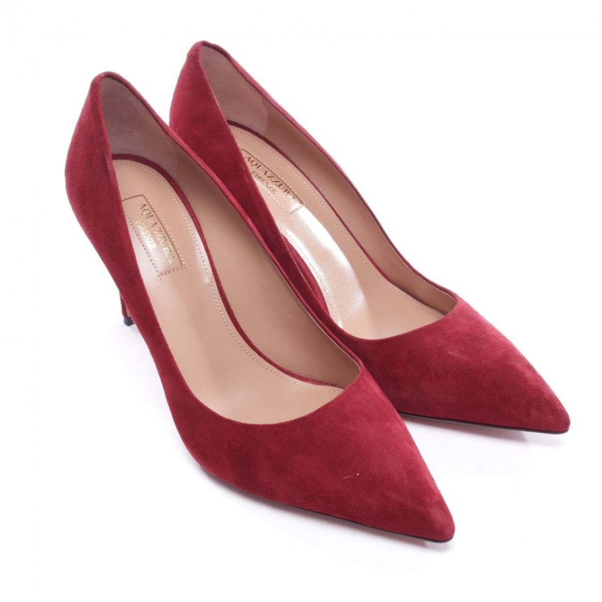 Aquazzura - Escarpins   pour femme en suede - rouge