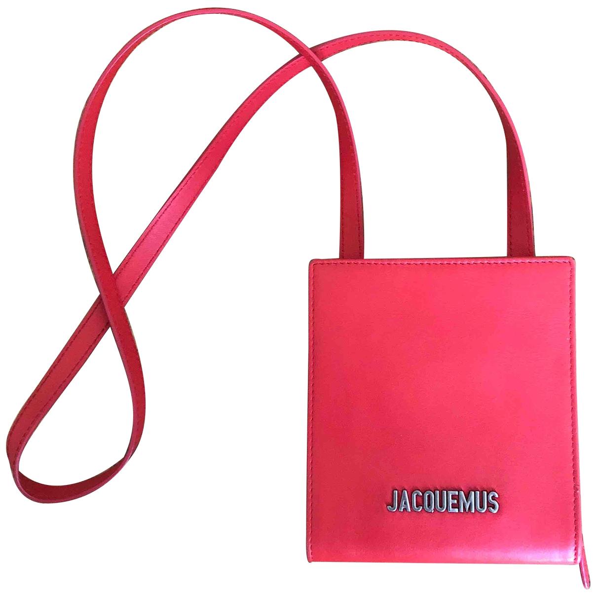 Jacquemus - Petite maroquinerie Le Gadjo pour homme en cuir - rouge