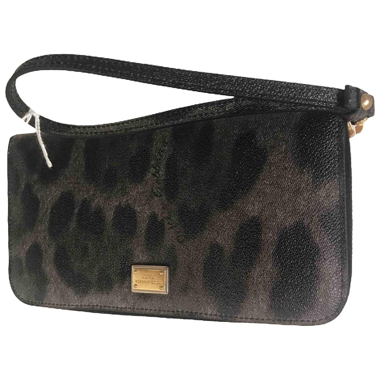 Dolce & Gabbana - Portefeuille   pour femme en cuir - gris