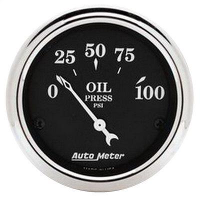 Auto Meter Old Tyme Black Oil Pressure Gauge - 1727