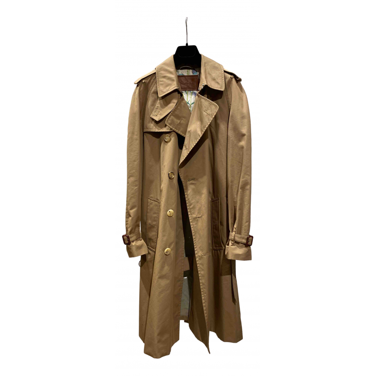 Gucci N Beige Cotton Trench coat for Women 38 FR