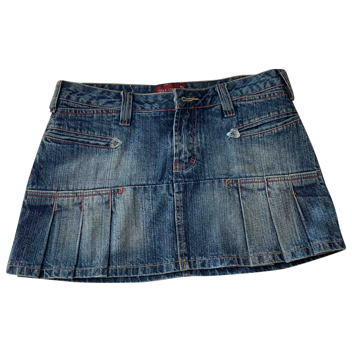 Non Signé / Unsigned \N Blue Denim - Jeans skirt for Women 42 IT