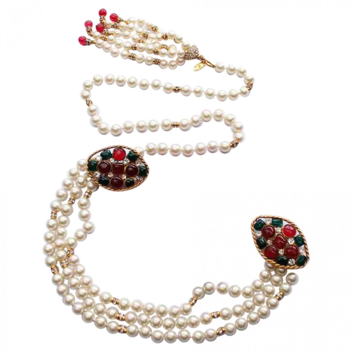 Chanel \N Pearls belt for Women 85 cm