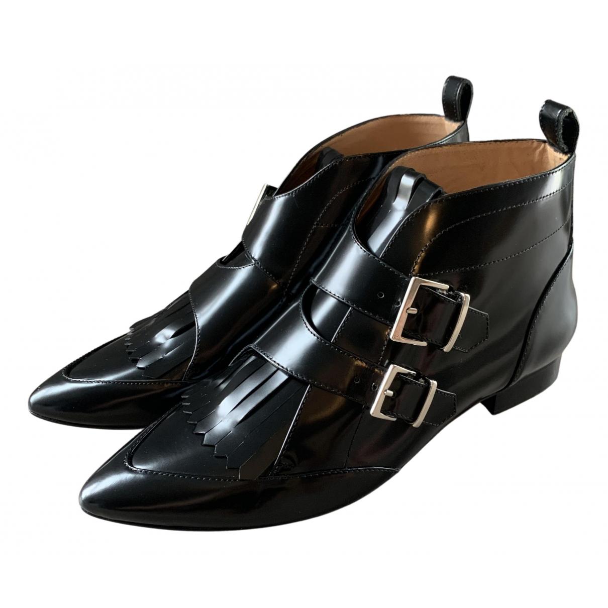 Iro \N Stiefeletten in  Schwarz Leder