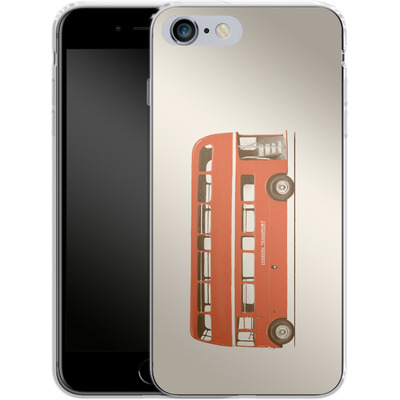Apple iPhone 6s Plus Silikon Handyhuelle - Red London Bus von Florent Bodart