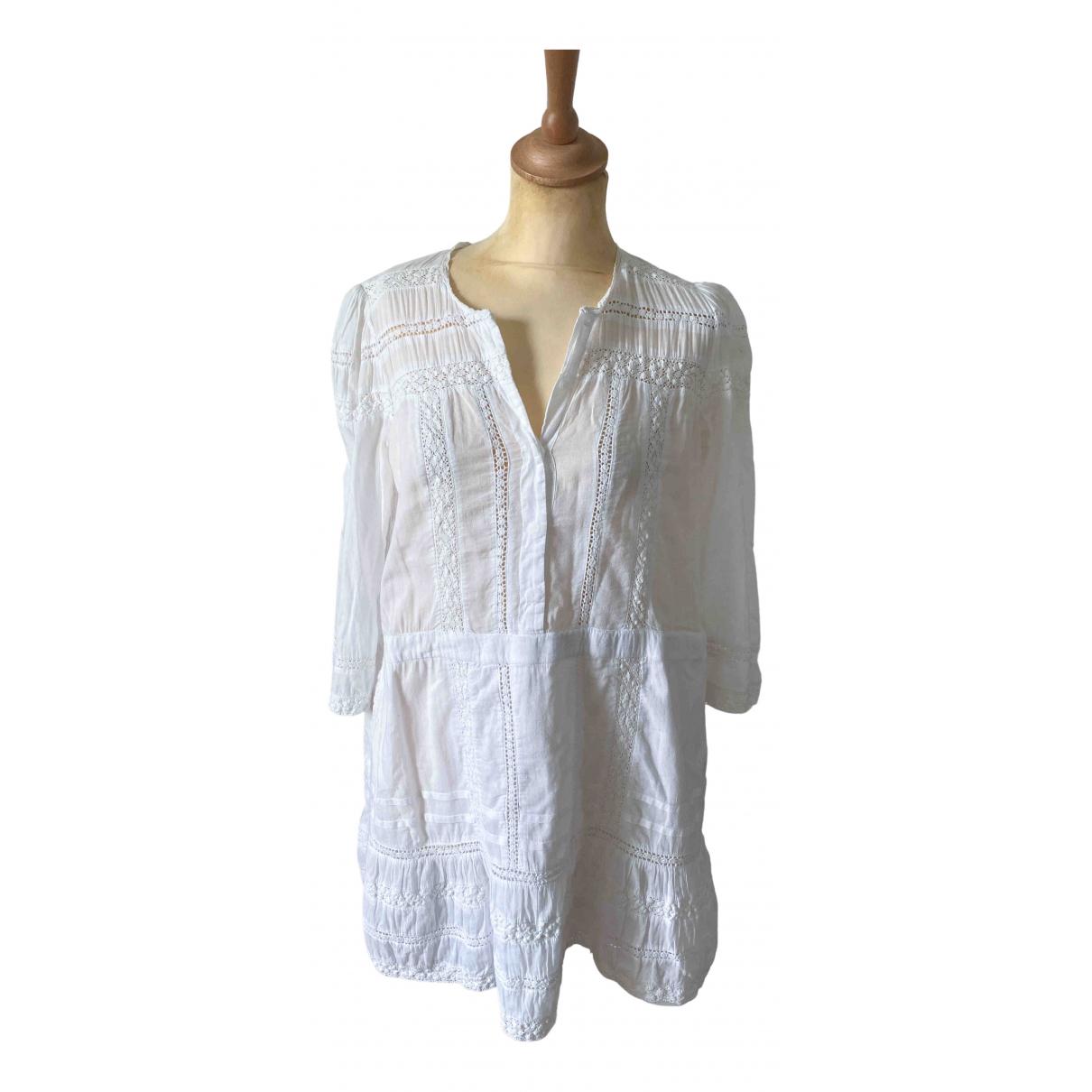 Tularosa \N Kleid in  Weiss Baumwolle