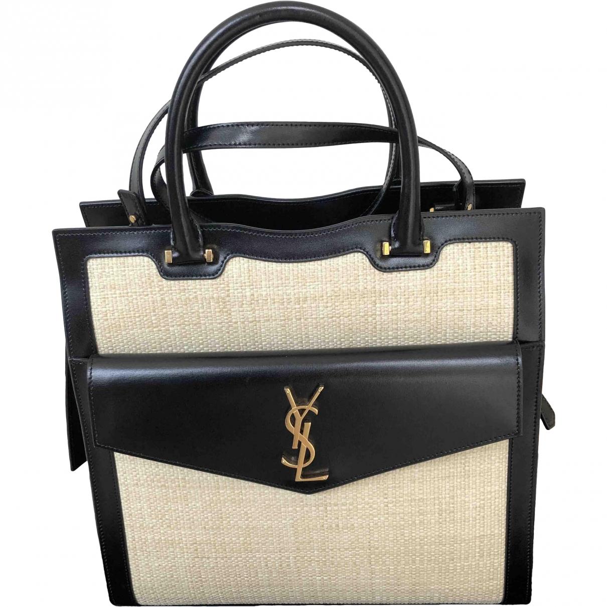Saint Laurent Uptown Beige Cloth handbag for Women \N