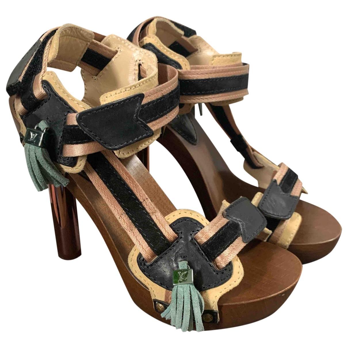 Louis Vuitton \N Beige Leather Sandals for Women 38 EU