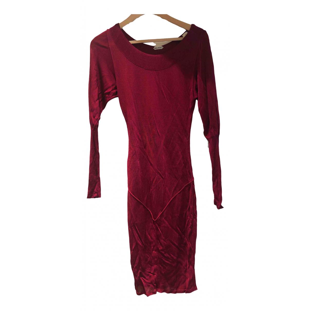Alaia \N Kleid in  Rosa Synthetik