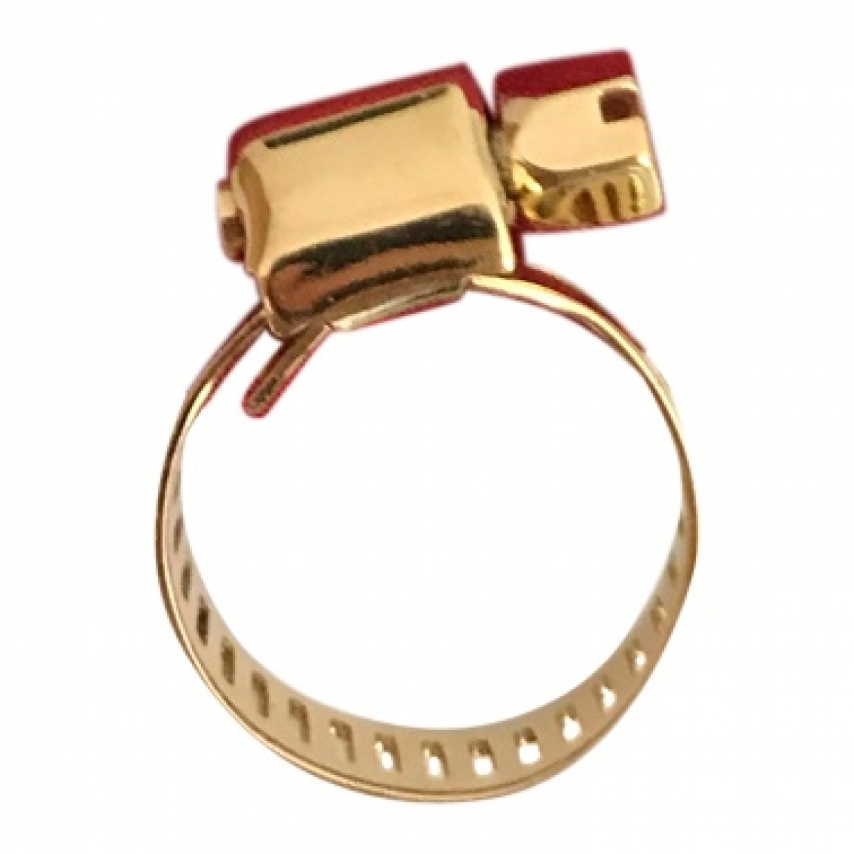 Non Signé / Unsigned \N Gold Metal ring for Women 60 MM