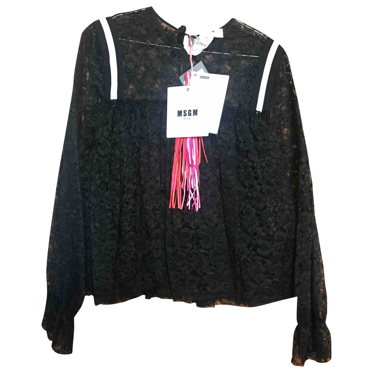 Msgm \N Black Lace  top for Women 40 IT