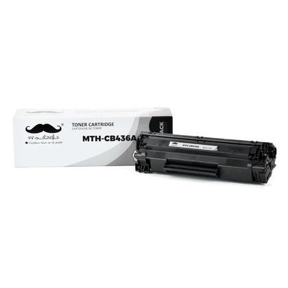 Compatible HP 36A CB436A cartouche de toner noire - Moustache