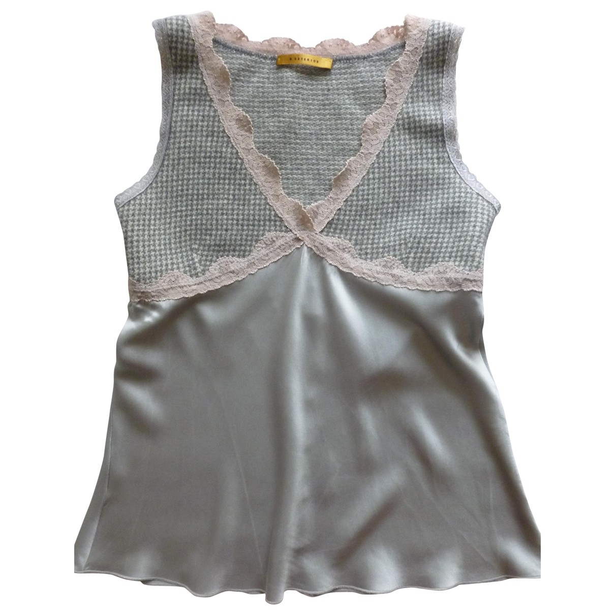Non Signé / Unsigned \N Grey Silk  top for Women XS International