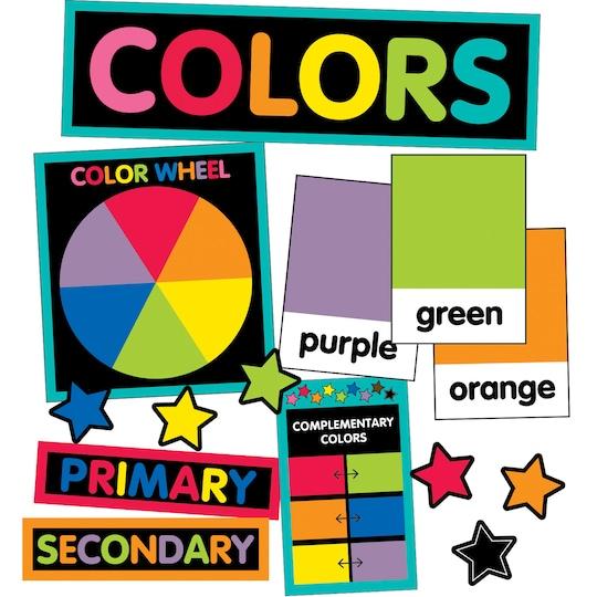 Carson-Dellosa™ Just Teach Color Cards Mini Bulletin Board Set By Carson Dellosa | Michaels®