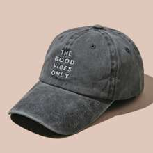 Men Letter Embroidered Baseball Cap