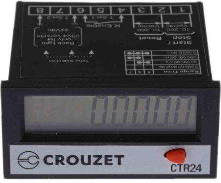 Crouzet CTR24, 8 Digit, LCD, Digital Counter, 260 V