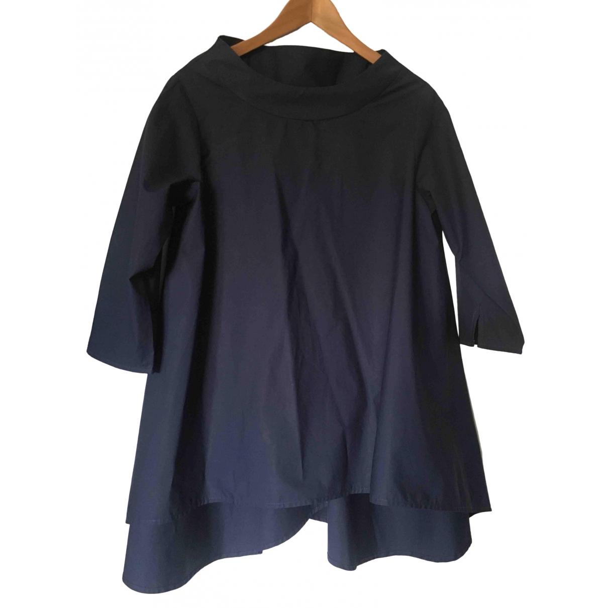 Non Signe / Unsigned Epaulettes Jacke in  Blau Baumwolle