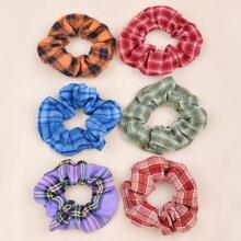 6 Stuecke Kleinkind Maedchen Haarband mit Karo Muster