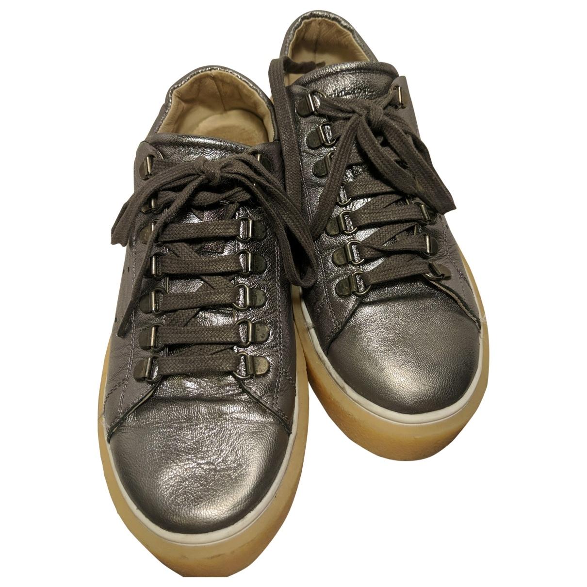 Mint & Rose \N Metallic Leather Trainers for Women 40 EU