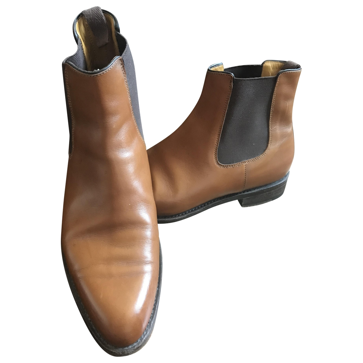 Paraboot \N Brown Leather Boots for Men 41 EU