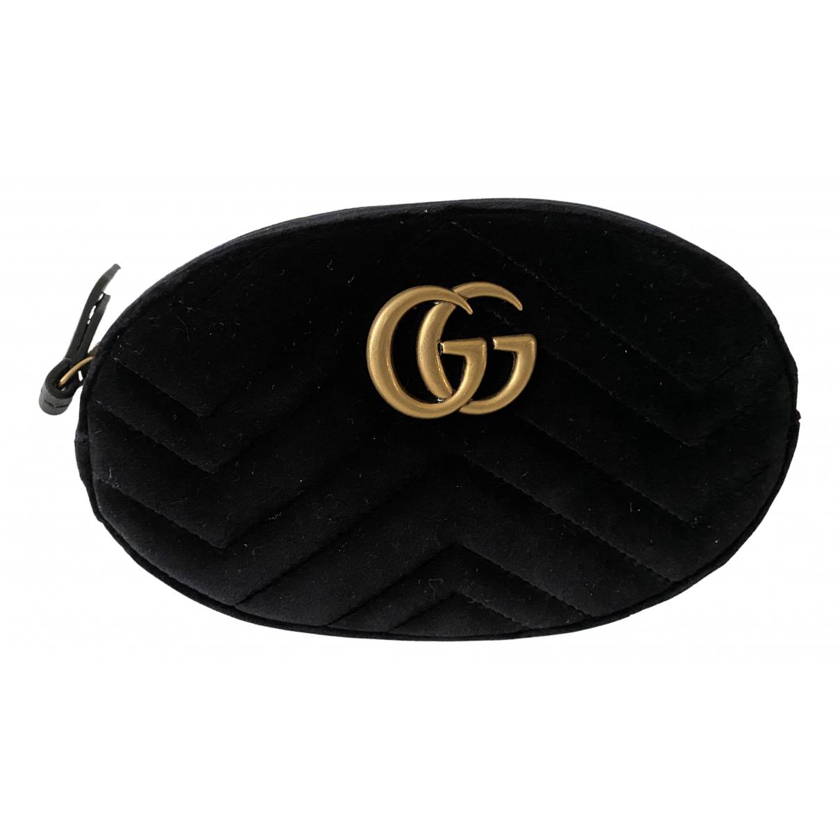 Gucci Marmont Black Velvet handbag for Women N