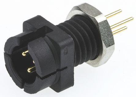 Binder Connector, 3 contacts Panel Mount Subminiature Socket, Solder IP40