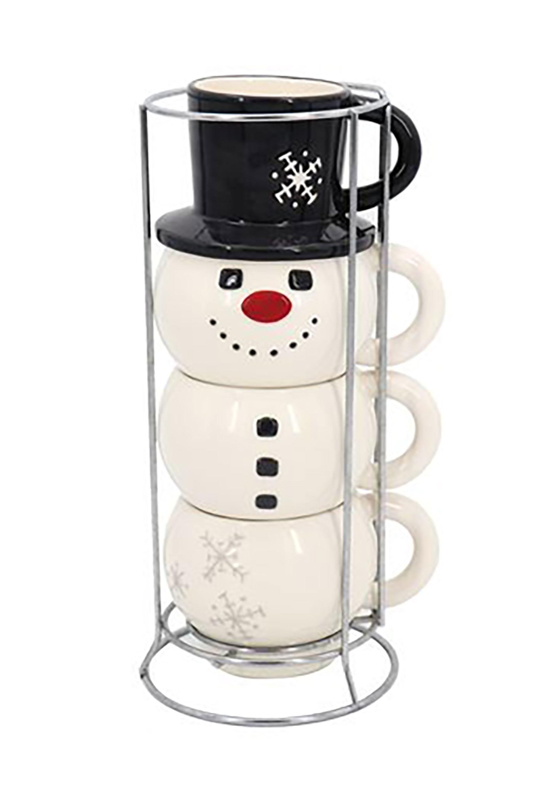 Stacking Snowman Mug Set