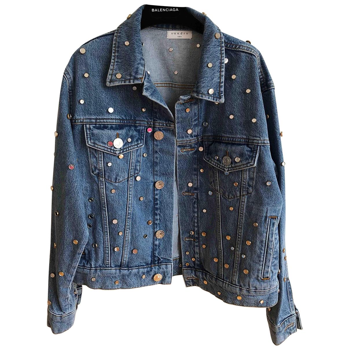 Sandro Fall Winter 2019 Blue Denim - Jeans jacket for Women 36 FR