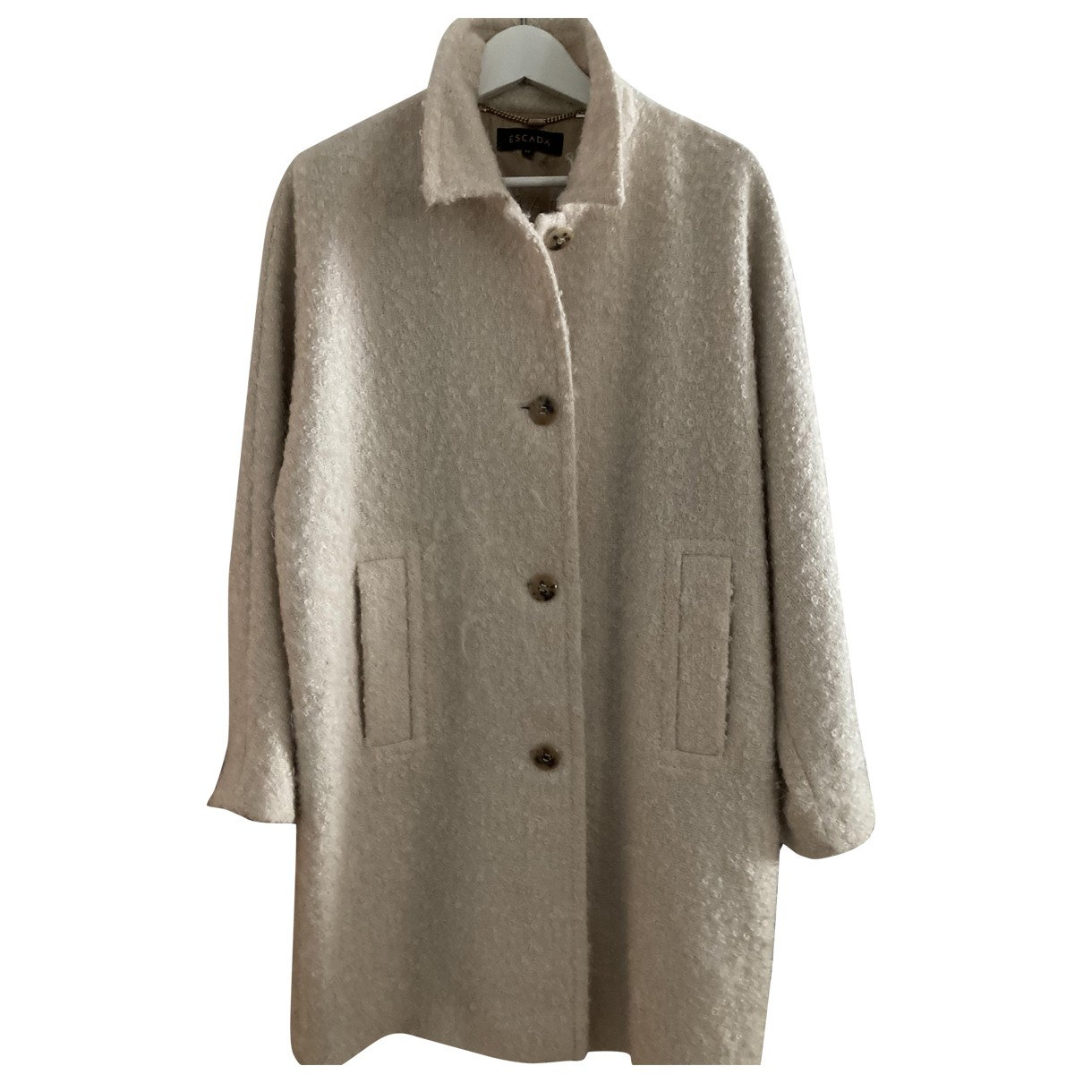 Escada N White Wool coat for Women 42 FR