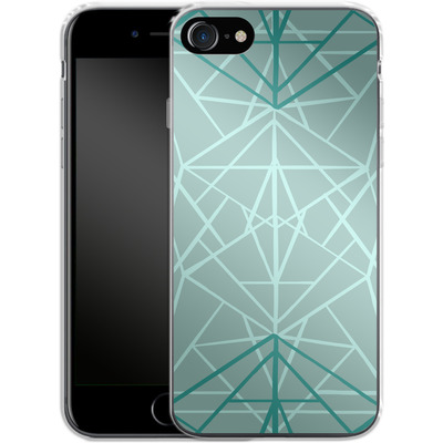 Apple iPhone 8 Silikon Handyhuelle - Geometric Sketches 3 von Mareike Bohmer