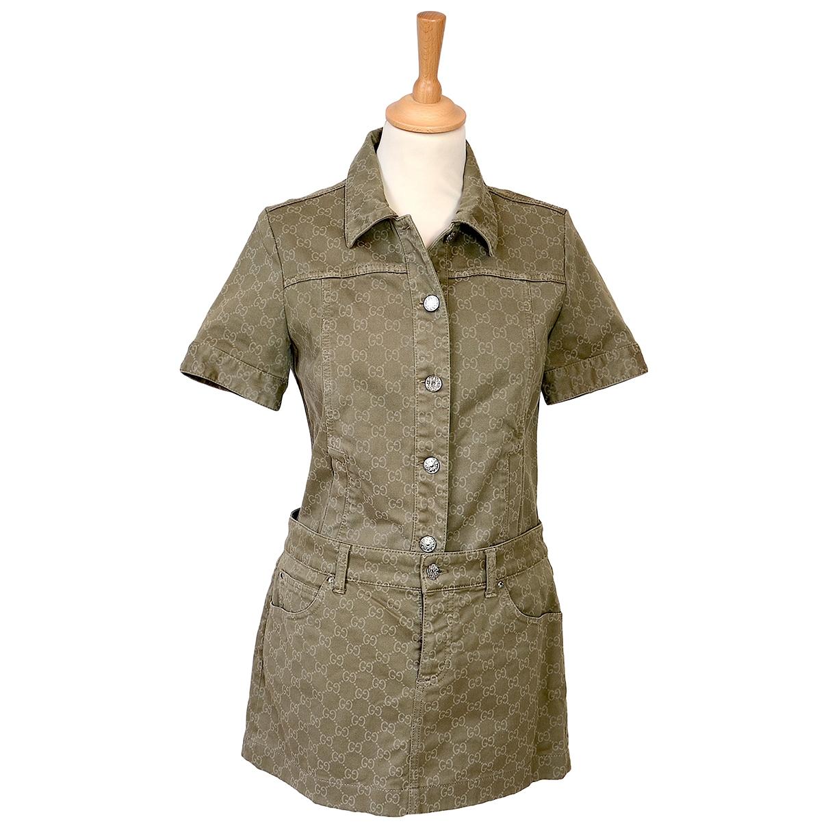 Gucci - Combinaison   pour femme en coton - kaki