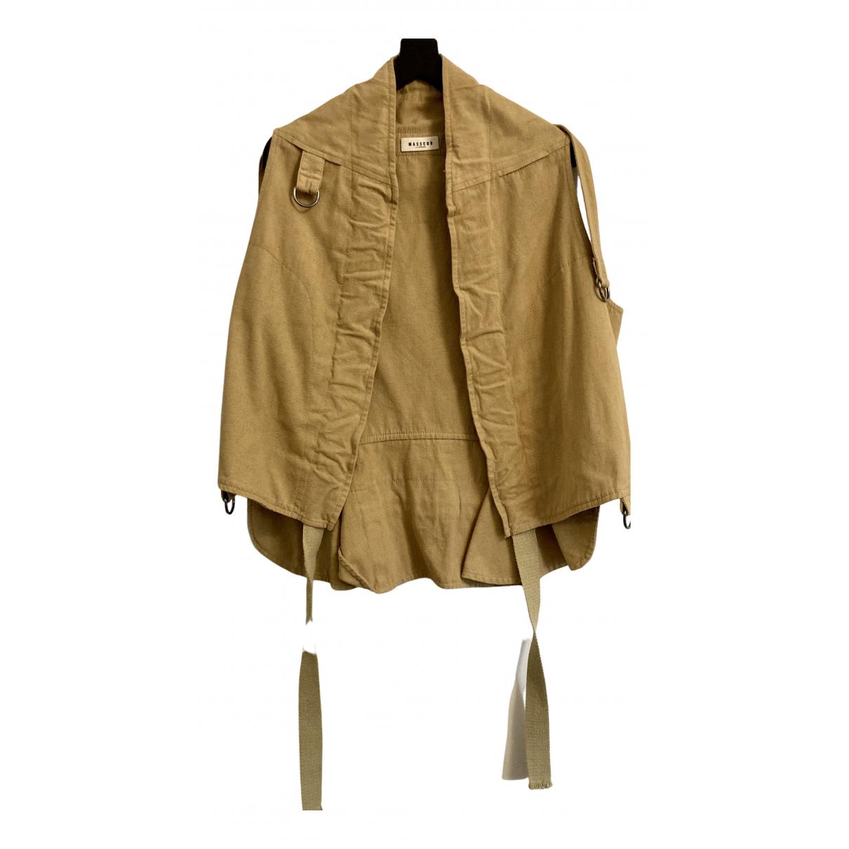 Masscob N Beige Cotton jacket for Women 36 FR
