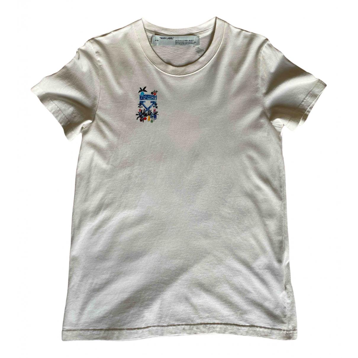 Off-white - Top   pour femme en coton - blanc