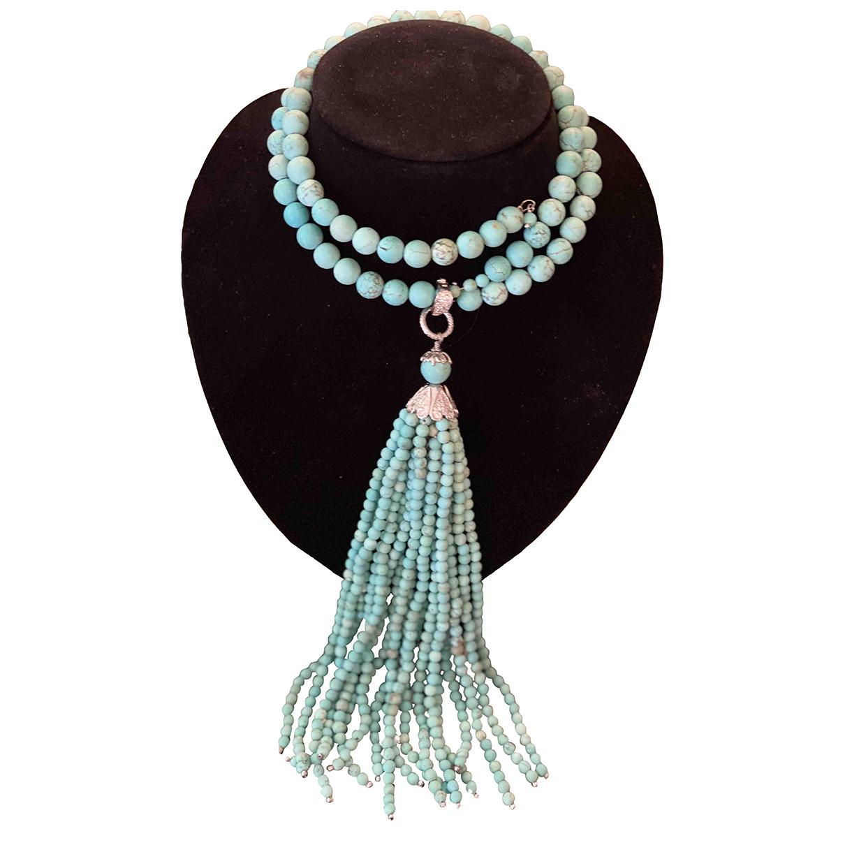 - Collier Turquoises pour femme en perles - bleu