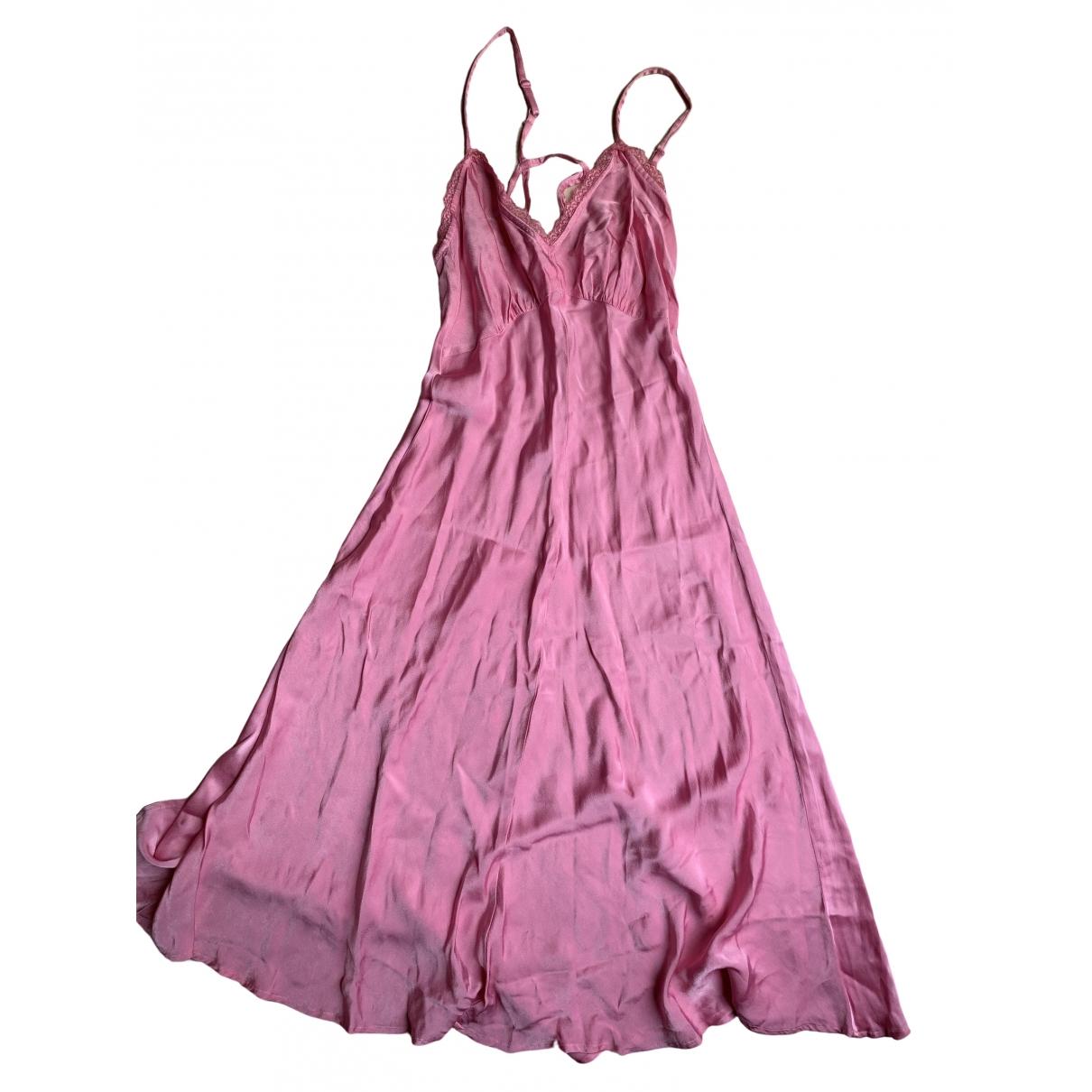 Ghost London \N Kleid in  Rosa Polyester