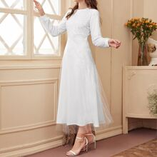 Polka Dot Print A-line Dress